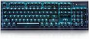 ThundeRobot 机械 Cherry MX 游戏键盘,可编程红色开关有线键盘,适用于游戏,带 104 键全反重影键盘,适用于 Windows/iOS,非常适合游戏或工作(红色开关)