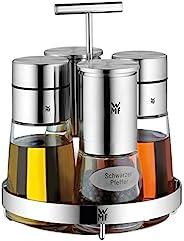 WMF 福腾宝 Ceramill De Luxe 5件套调味品套装,不锈钢,银,17 x 29.9 x 21.5厘米