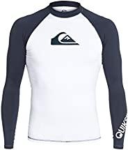 Quiksilver All Time 长袖*游泳衫 UPF 50+, 白色/*蓝西装外套 2, X-Large