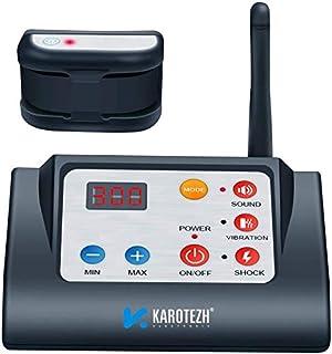 KAROTEZH 无线狗狗围栏 宠物用电狗围栏 带可调节、可充电、防水训练项圈和稳定信号,适用于室内室外
