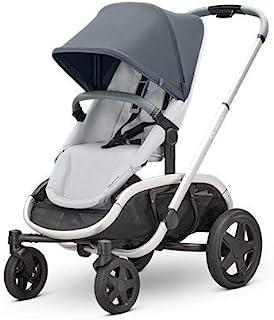 Quinny 酷尼 VNC 轻便高景观婴儿推车,双向可坐可躺,轻便可折叠,四轮独立悬挂避震系统,超大置物篮,适合0-4岁,石墨灰