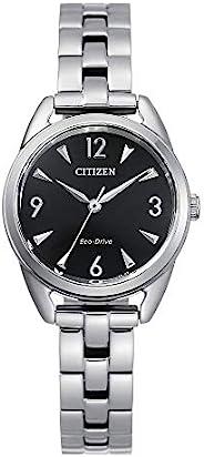 Citizen 西铁城 女式 Drive 石英不锈钢表带 银色 11 休闲手表 (型号:EM0680-70E)