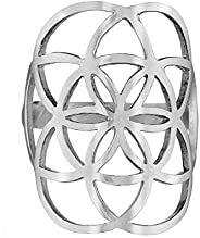 經典大生命種子戒指 925 純銀 幾何 生活 花卉 瑜伽珠寶
