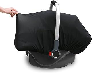Mesh 婴儿汽车座椅罩汽车座椅罩遮阳罩通用汽车座椅遮阳篷罩罩 - 透视和重量轻 - 保护您的宝宝免受阳光直射、蚊子、昆虫、灰尘花粉