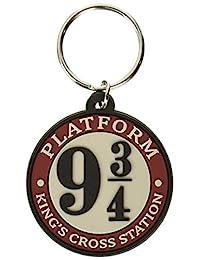 哈利波特 - 防水台 9 3/4 - 橡胶钥匙链,多色,均码