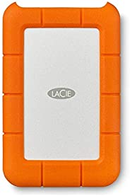 LaCie Rugged Mini 2TB 外置硬盘便携式硬盘 – USB 3.0 USB 2.0兼容, 防震防尘防雨驱动器, 适用于Mac和PC电脑Workstation PC笔记本电脑 (LAC9000298)