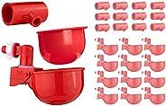 RentACoop 12 件装自动填充浇水杯,带 12 件装T 恤配件,适用于 1.27 厘米日程安排 40 PVC 管道
