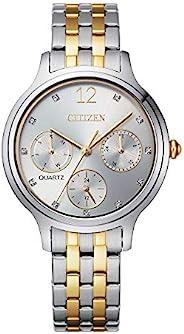 Citizen 西铁城 女式石英不锈钢表带 多色 14 休闲手表(型号:ED8184-51A)