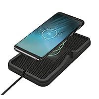 Trust Flexo 无线车载充电垫,可与所有智能手机搭配使用 Qi 无线充电支持 - 黑色