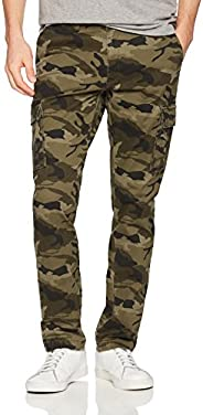 Goodthreads Men's Slim-Fit Cargo Pant, Camo, 30W x