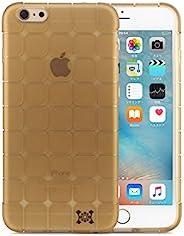 日本HANATORA 花虎 HS1 高品质苹果6手机壳保护套 超耐冲击防摔软壳 防摔防震防指纹iPhone 6splus创意魔方手机壳 (iPhone6S/6 Plus, 金色)