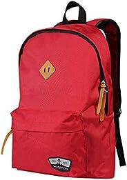 Volkano 时尚笔记本电脑背包,带弹性隔层,适用于商务、大学生、旅行、拉链隔层适合 15.6 英寸笔记本电脑,耐用轻便设计 [红色] - 独特系列