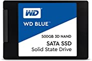 "Western Digital Blue 3D NAND 500GB 内置固态硬盘 - SATA III 6 Gb/s, 2.5""/7mm, 可达560 MB/s - WDS500"