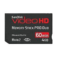 Sandisk 4GB Ultra II Memory Stick Pro Duo MSPD 视频高清卡 - 零售包装