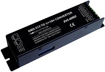 DMX 至 0–10V 调光转换器(4 通道 - RGBW,RJ45)