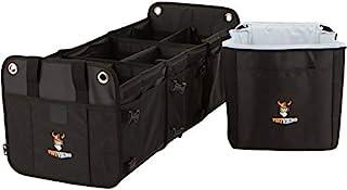 Tuff Viking SUV 行李箱收纳礼品套装 | 卡车床收纳器和杂货收纳器 3 合 1 敞篷车适用 SUV、汽车、小型货车、吉普带隔热冷藏袋和系带*(礼品套装黑色)