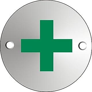 Seco 急救象形图画标志,直径 72 毫米 - 1.5 毫米缎面阳极氧化铝