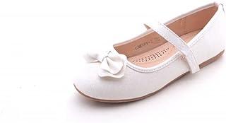 Mila Girls 幼童行走芭蕾舞平底鞋,带舒适缝纫衬垫鞋垫