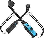 Switch Joycon Grip 适用于马里奥高尔夫 Super Rush,YUANHOT Joy Con 控制器支架开关手柄配件带表带适用于 Nintendo Switch 高尔夫游戏 - 黑色(1 件装)
