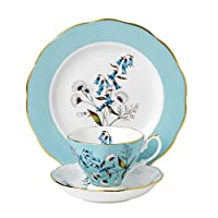 Royal Albert 3 件 100 年 1950 茶杯、茶托及盘子套装,8 英寸,多色
