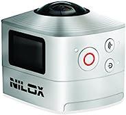 Nilox 动作相机 Evo 360 摄像机 全高清 1.920 x 1.440 P,30 FPS,8 MP,银色