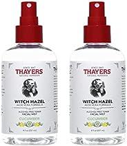 Thayers 无酒精黄瓜金缕梅面部喷雾爽肤水 - 8 盎司(约 226.8 克)(2 件装)