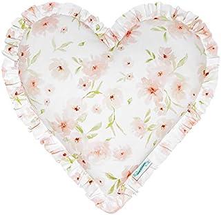 LAMPS & COMPANY 心形枕头,棉,粉红色,40 x 40 x 13厘米