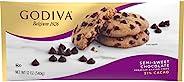 GODIVA Semi Sweet Chocolate Premium Baking Chips (11 oz Bag, Pack of 12)