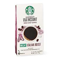 Starbucks 星巴克 VIA 即沖咖啡,低因 意式烘焙,50支裝,5.8盎司/約164.43克