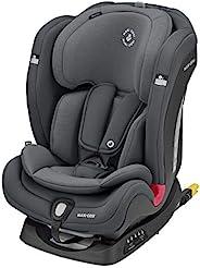 Maxi-Cosi 迈可适 Titan Plus舒适型汽车安全座椅,带有ClimaFlow功能,幼儿/儿童可用,1-2-3组可转换带ISOFIX,9个月-12岁,石墨色