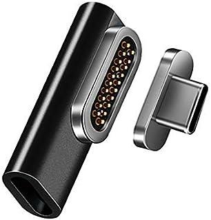 REDBEAN 磁性 USB C 适配器 20 针 C 型连接器支持 PD 100W 快速充电 10 Gbps 数据传输 4K 60Hz 视频输出 兼容 MacBook Pro 2019 /Air, HPB4GF-BK