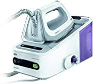Braun 博朗 CareStyle 5 IS 5043 蒸汽熨斗,2400W,6bar,蒸汽升压:340克/分钟,1.4L水箱,Eco功能,白色/紫色