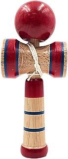 BAR AUTOTECH 日本传统实木剑达马玩具 - 投掷和捕捉技能建筑室内玩具游戏,非常适合儿童、儿童、成人、父母、节日礼品(小号)