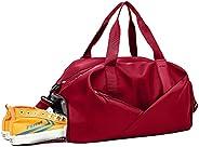 健身房包,运动健身包,防水旅行包,耐用运动手提包,带鞋隔层和干湿口袋运动包,男女适用 黑色, 红色,
