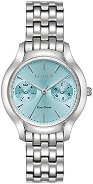 Citizen 西铁城 女式光动能手表,模拟显示和不锈钢表链