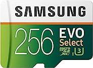 三星 EVO Select UHD 内存卡带适配器 256 GB