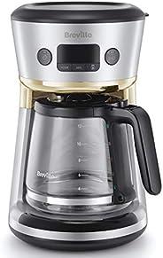 Breville 铂富 Mostra 易测量滤咖啡机   12 杯可编程咖啡机   1.8 升水罐   内置滤水器   新鲜指示器   延时定时器   银色和金色   VCF115