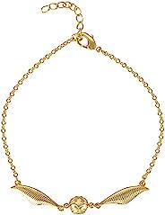 哈利波特镀金金飞贼 Quidditch 手链,官方*,7 英寸(约 17.8 厘米)+ 1 英寸(约 2.5 厘米)延长链