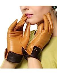 ELMA 纳帕皮手套Thinsulate+ 抓绒内衬撞色镶边镀金徽标