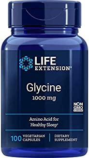 Life Extension 甘氨酸素食胶囊 1000毫克,100粒