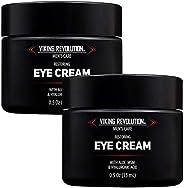天然男士眼霜 – 男士眼霜*黑眼圈眼底护理。- 男式眼部保湿霜抗皱霜 – 有助于减少浮肿、眼袋和鱼尾纹,2 件装