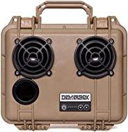 DemerBox 防水便携坚固户外蓝牙音箱 响亮的声音深低音 40 小时电池寿命 干盒 + USB 充电 多配对派对模式 持久耐用 ( Fraser 棕褐色 DB2 )