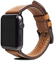 SLG Design Apple Watch 表带 44毫米 42毫米 皮革 意大利 苹果手表 表带 Series 6 / Series SE/Series 5 / Series 4 / Series 3 / Serie