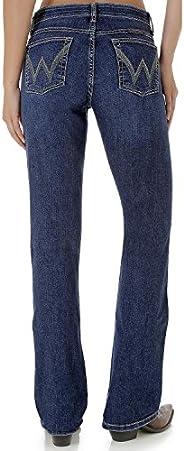 Wrangler 女式 Q-Baby 中腰终极牛仔裤靛蓝色