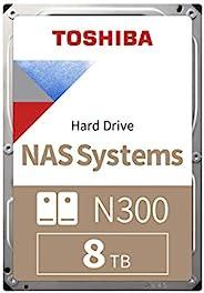 Toshiba 东芝 N300 8 TB NAS 3.5 Inch SATA Internal Hard Drive. 24/7 Operation, Supports 1-8 bay systems, 256 MB C