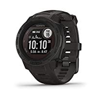 Garmin 佳明 Instinct 太陽能動力堅固耐用戶外智能手表,內置運動應用程序和*監測,石墨色