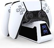 Playstation 充电底座适用于新的 PS5 控制器 - Playstation 控制器充电底座(黑色带白色镶嵌)