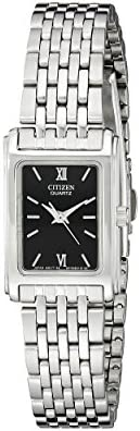Citizen 女士不锈钢手表黑色表盘