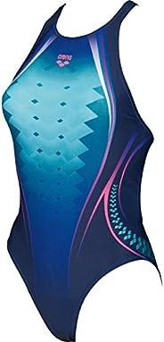 Arena W Piece 女式单色印花运动服装,女式,001191,*蓝 - aphrodite