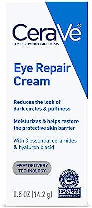 CeraVe 眼部修护霜| 0.5盎司/14.2克| 针对黑眼圈和浮肿| 包装可能会有所不同